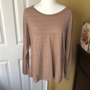 Sonoma Tan and Gold Everyday Tee Long Sleeve XL